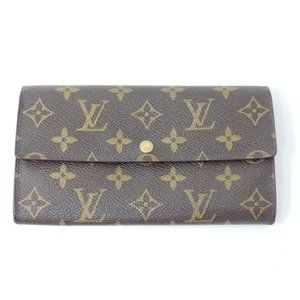 Auth Louis Vuitton Vintage Sarah Monogram Wallet